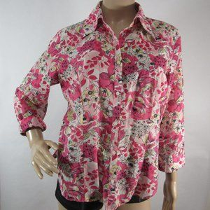 Loft Ann Taylor Shirt Button Down Front